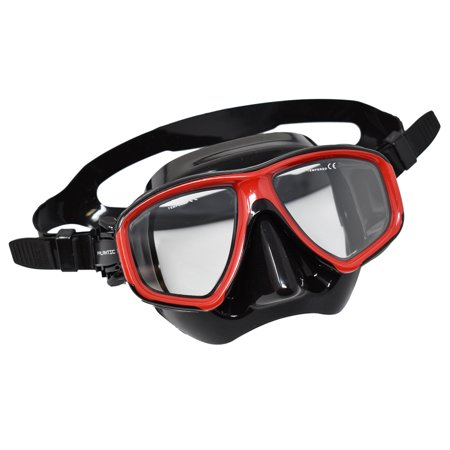 Scuba Black/Red Dive Mask FARSIGHTED Prescription RX 1/3 Optical - Prescription Contact Lens Halloween