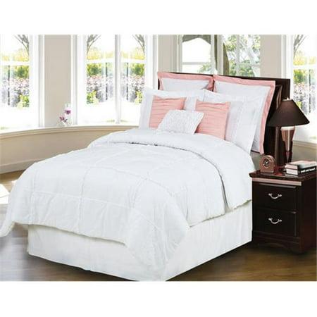 Hallmart 65368 southern magnolia 9piece queen size comforter set for Walmart queen size bedroom sets