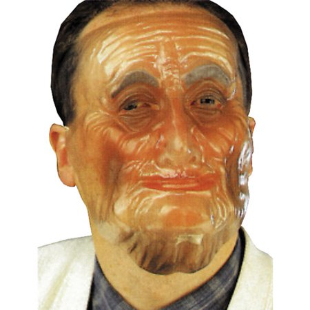 Plastic Old Male Transparent Mask Halloween Accessory