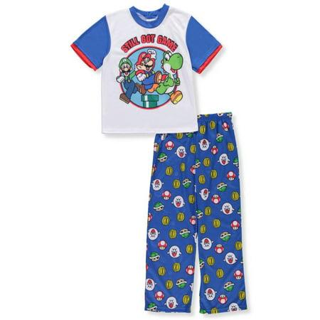 Super Mario Boys' 2-Piece Pajamas - Super Mario Gloves