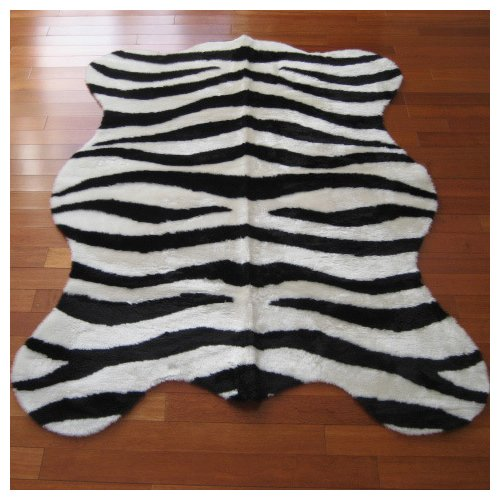 Walk On Me Animal Zebra Bold Striped Area Rug
