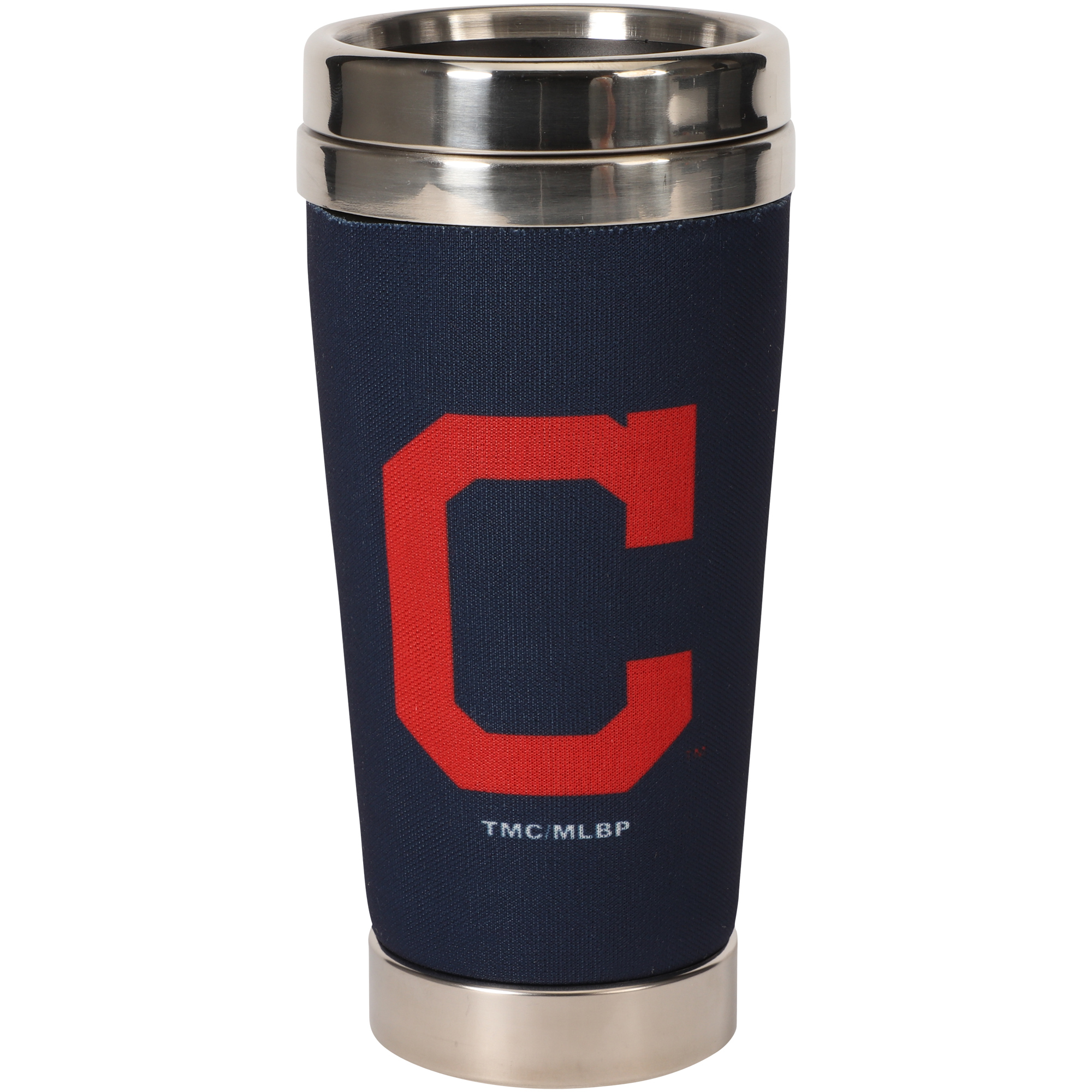 Cleveland Indians 16oz. Primary Logo Stainless Steel Neoprene Tumbler - No Size