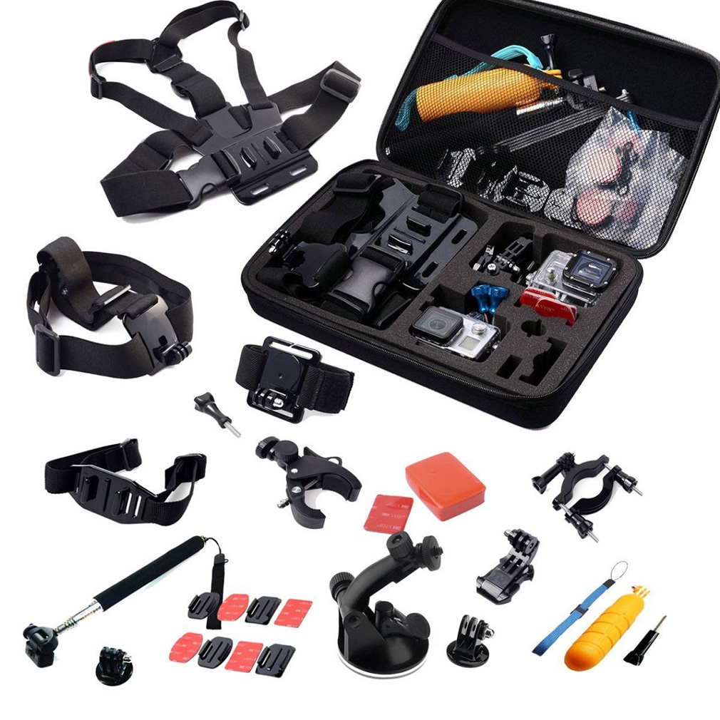 30in1 Head Chest Mount Floating Monopod Accessories Kit For GoPro 2 3 4