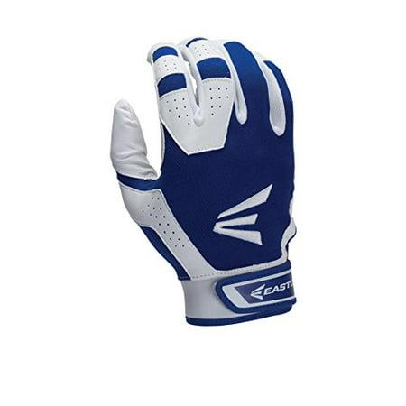 Easton Youth HS3 Batting Gloves, White/Royal, X-Large