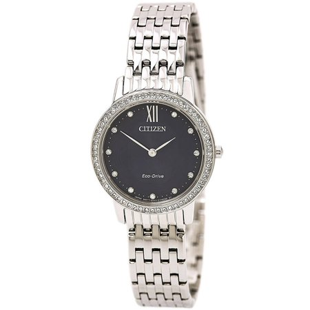 Eco-Drive Silhouette Crystal Stainless Steel Ladies Watch EX1480-58L