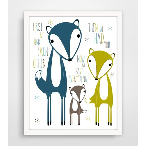 Finny and Zook First We Had Each Other Fox Family Framed Paper Print