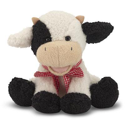 Melissa & Doug Meadow Medley Calf - Stuffed Animal Baby Cow With Moo Sound - Cuddly Cow