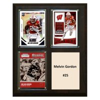 "C & I Collectables NCAA 8"" x 10"" Melvin Gordon Nebraska Cornhuskers 3 Card Plaque"
