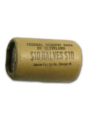 1964 Kennedy Half Dollar 20-Coin Bank Wrapped Roll BU