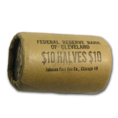 1964 Kennedy Half Dollar 20-Coin Bank Wrapped Roll BU Anthony Dollar Roll 20 Coins