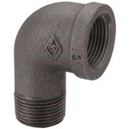 6-1-4B .25 In. Malleable 90 Degrees Street Elbow, Black - image 1 of 1