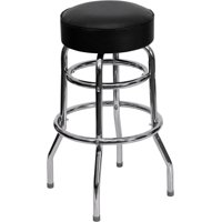 Flash Furniture 2-Pack Double Ring Chrome Barstool with Seat, Multiple Colors