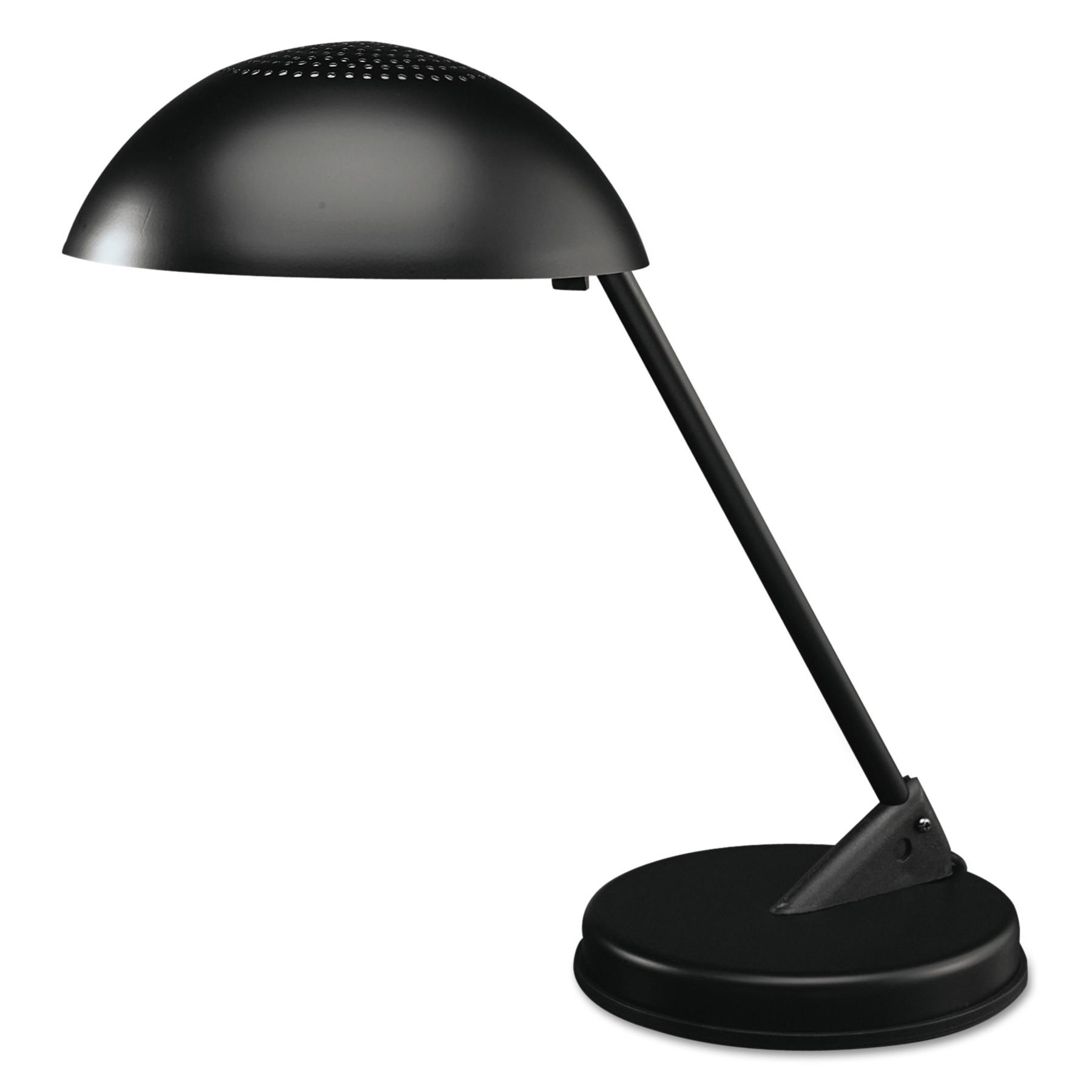 "Ledu Incandescent Desk Lamp with Vented Dome Shade, 18"" Reach, Matte Black by LEDU CORP."