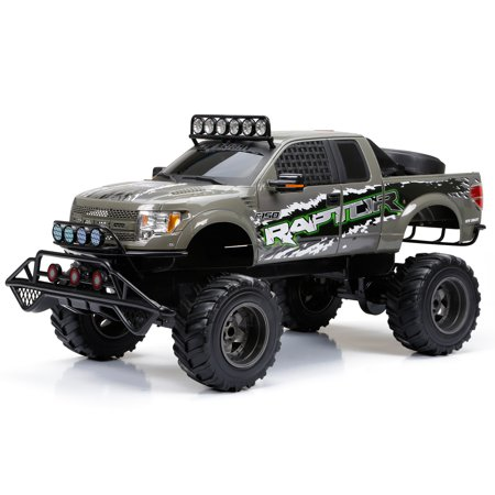 New Bright RC 1:6 Scale Ford Raptor Truck, Gray - Walmart.com