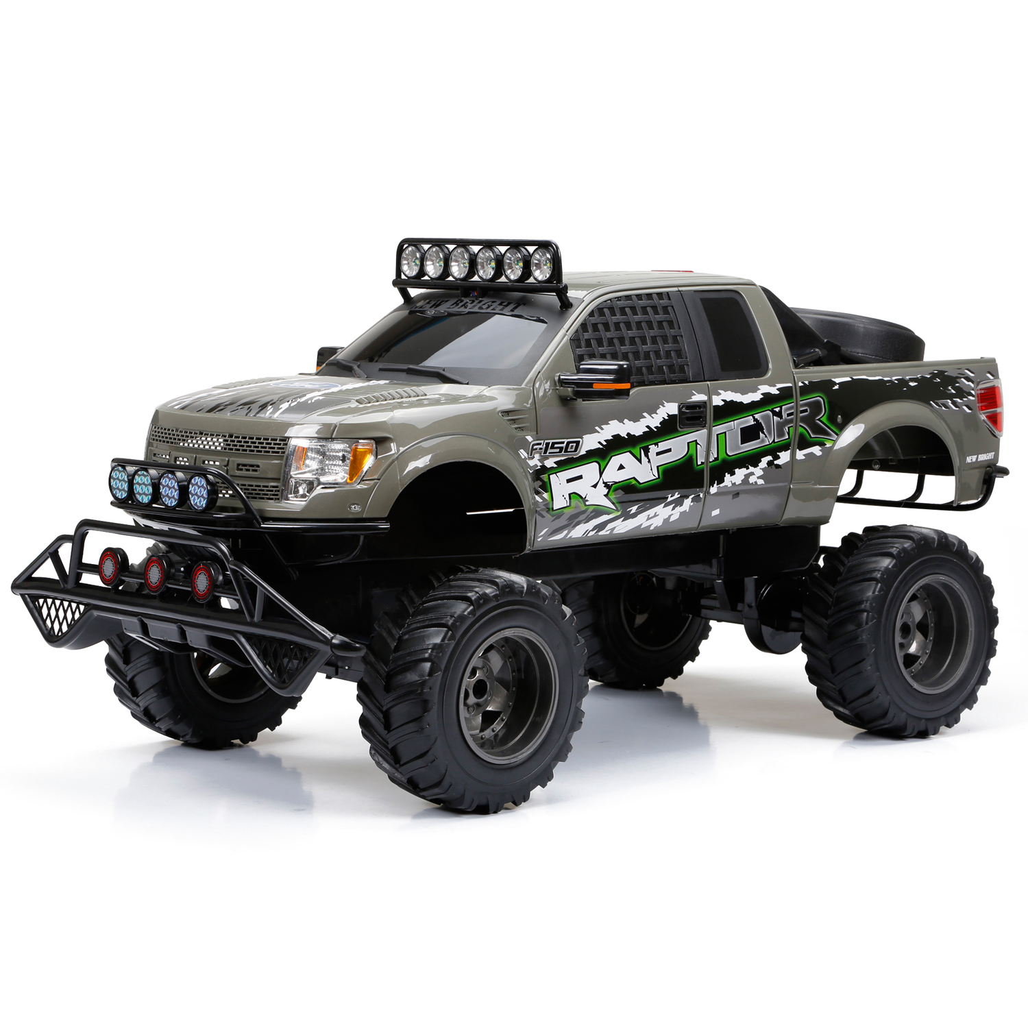 New Bright RC 1:6 Scale Ford Raptor Truck, Gray