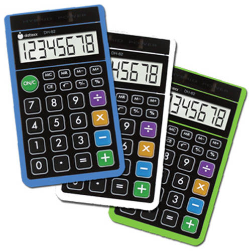 Datexx Hybrid Handheld Calculator, 3-Pack