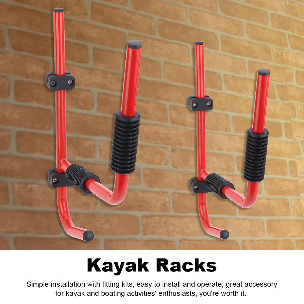 Hilitand Kayak Wall Rack, Kyak Wall Mount,1Pair Kayak Storage Rack Hanger Supporter Carrier Surfboard Holder Wall Bracket