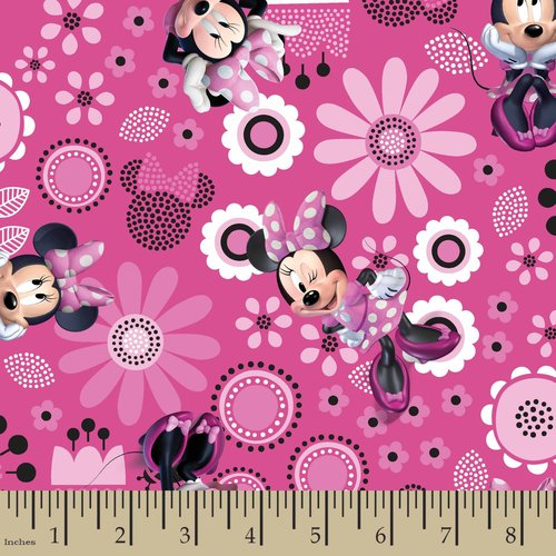 Disney Minnie Bowtique Allover Fabric by the Yard