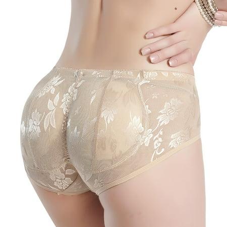 fe4884ee2e0 Glass House Apparel - Women s Seamless Butt Lifter Body Shaper Brief Padded  Lace Control Panties Enhancer - Walmart.com