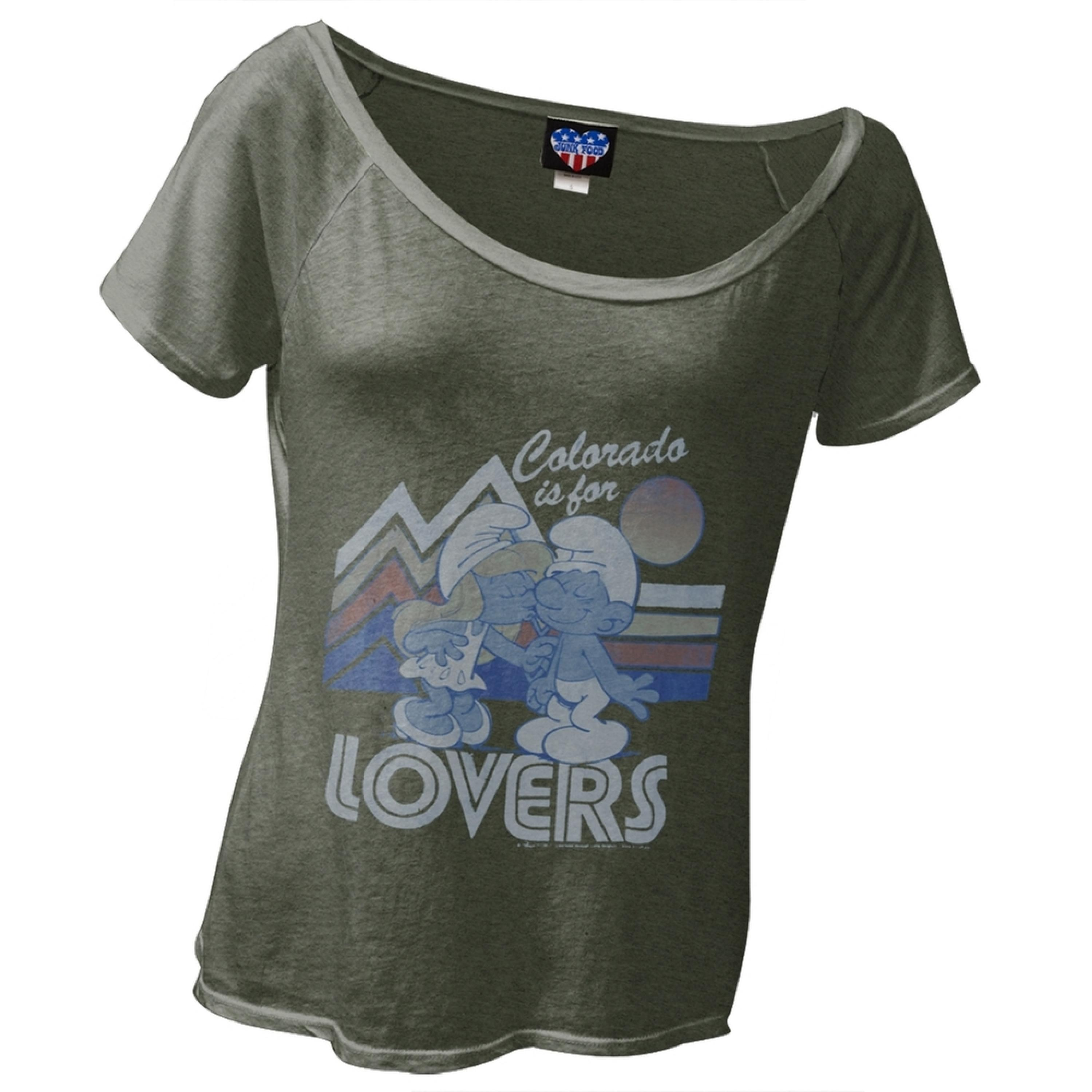 Smurfs - Colorado Is For Lovers Juniors Slouch T-Shirt