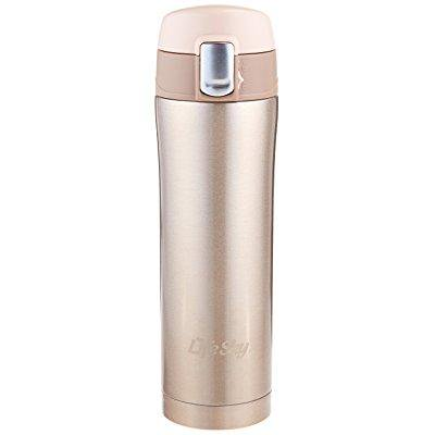 Lifesky Stainless Steel Insulated Travel Coffee Mug 16 Oz Champagne