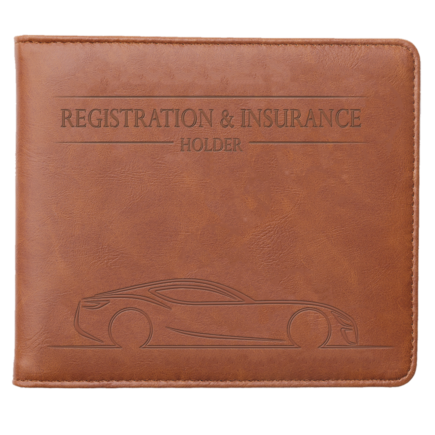 Tan Auto Truck Paperwork Holder with 7 Pockets /& Magnetic Closure Leather Vehicle Glove Box Documents Organizer Wallet Case Car Insurance and Registration Card Holder