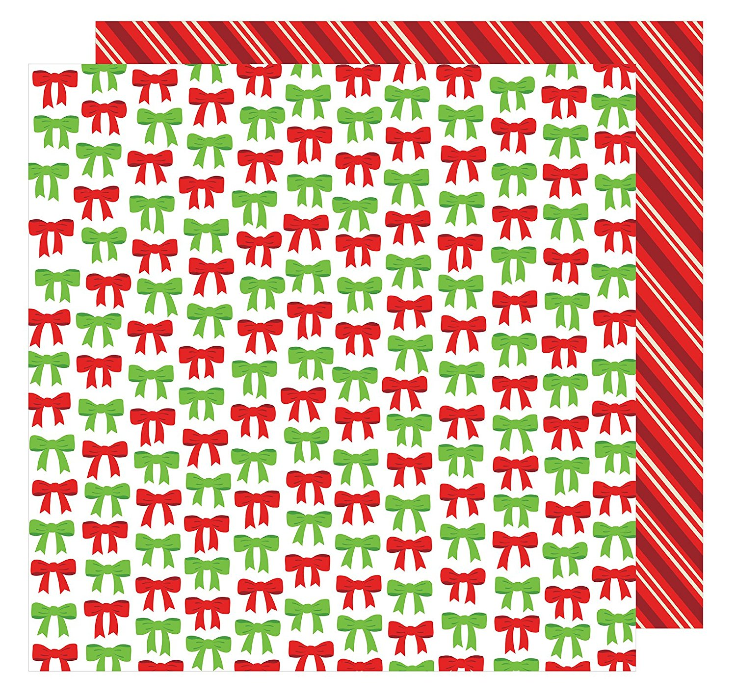 American Crafts All Wrapped Up Collection Christmas 12 X 12 Double Sided Paper All Wrapped Up