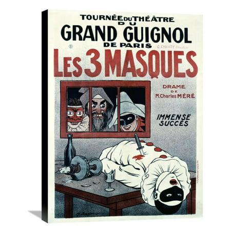 Global Gallery Theatre De Grand Guignol / Les 3 Masques Canvas Wall Art