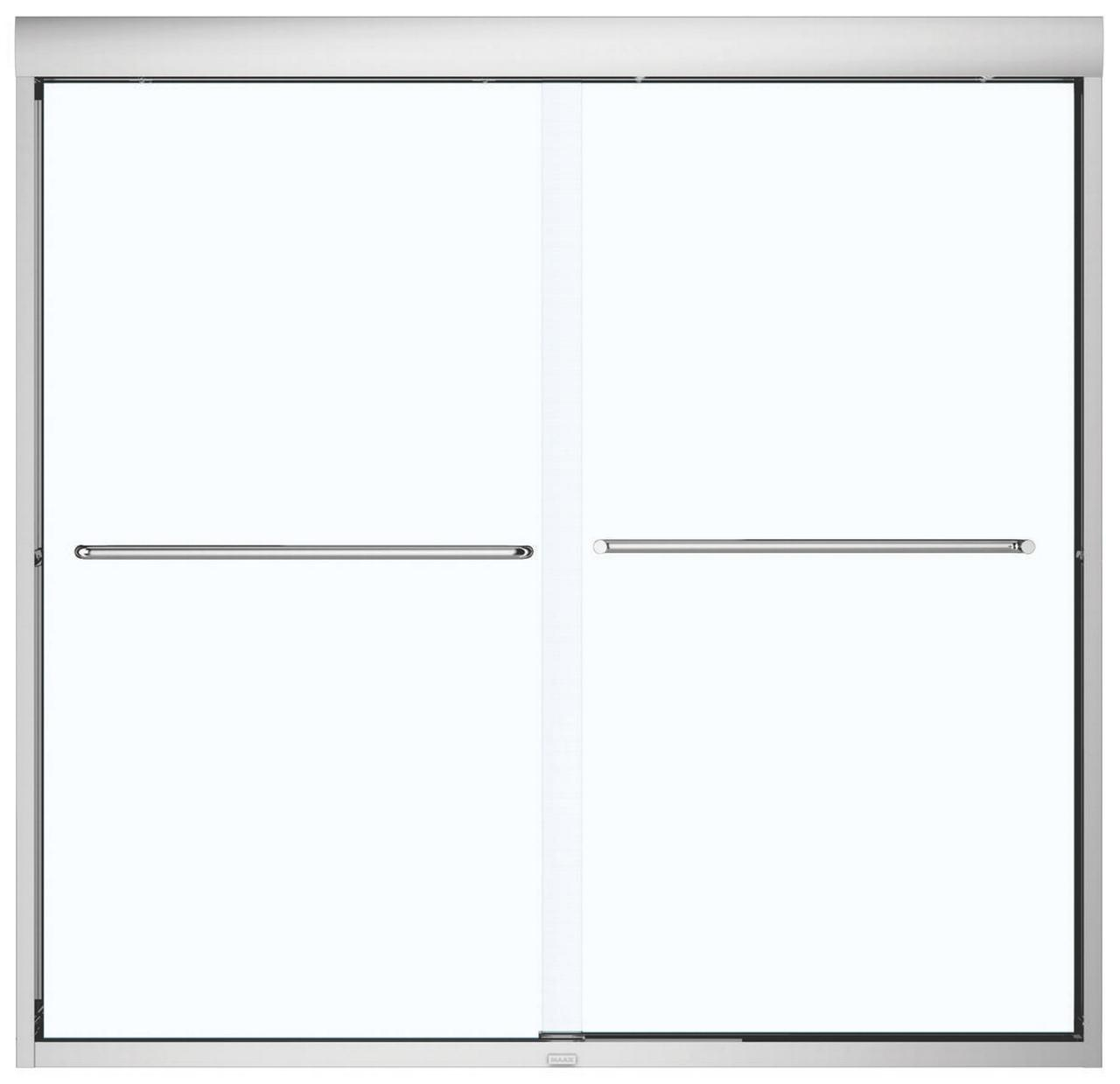 Maax 135661-900-084 Semi-Frameless Bathtub Door, 55 - 59 ...