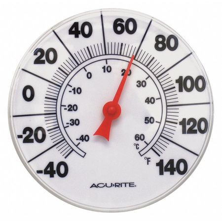 """Analog Thermometer,8"""" Dial Size ACURITE 00353A1"""