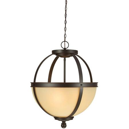 Sea Gull Lighting 6690403-715 Sfera Three Light Pendant Hanging Modern Fixture, Autumn Bronze