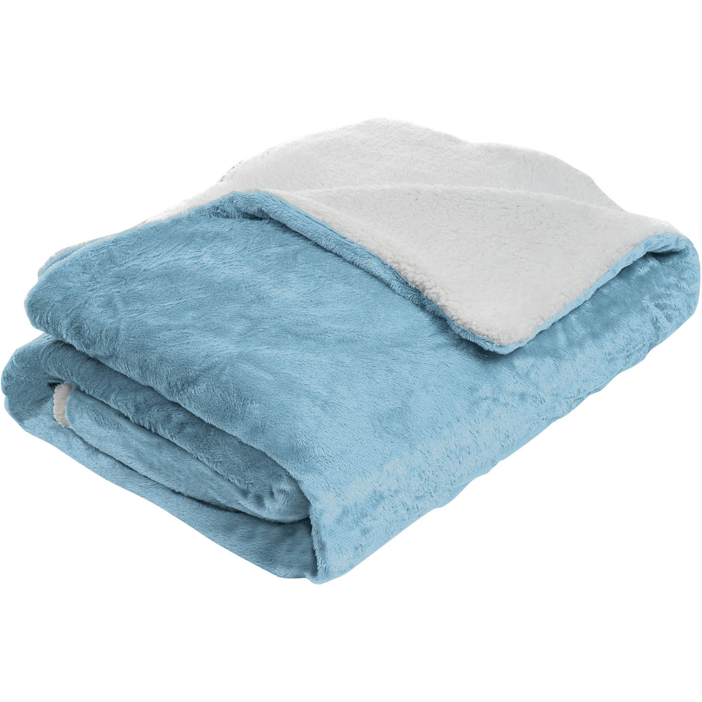 Somerset Home Fleece Blanket with Sherpa Backing
