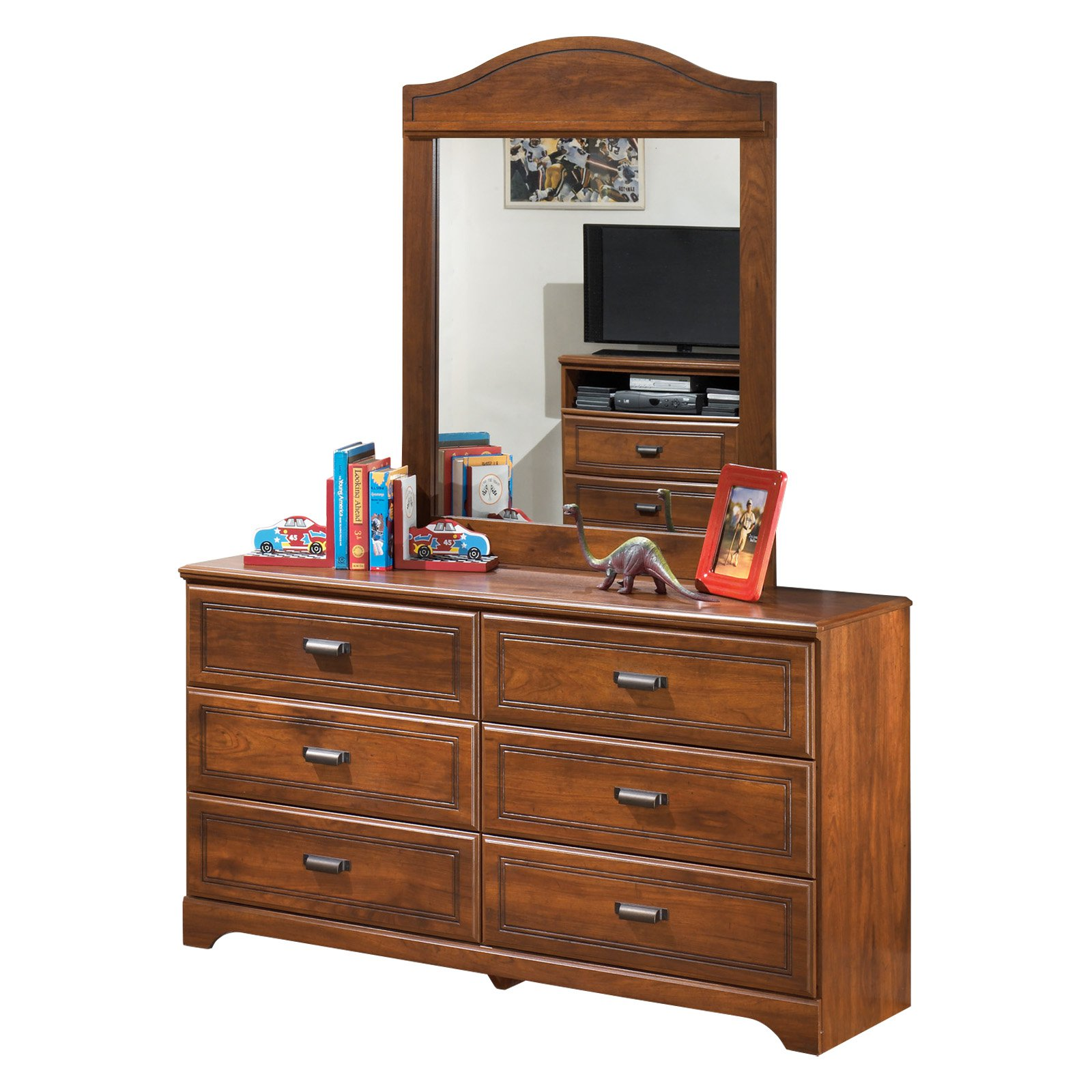 Signature Design by Ashley Barchan 6 Drawer Dresser with Mirror