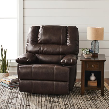 Better Homes & Gardens Moore Deluxe Rocking Recliner, Multiple Colors - Leather Like Glider Recliner
