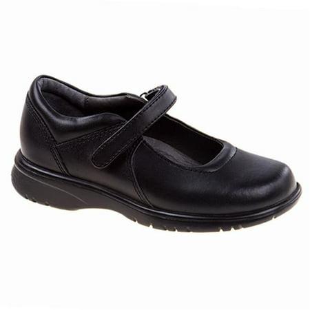 Academie LAUREN-CW-V Hook Eye Adhesive Strap School Shoes  Black - Wide - Size 10.5 - image 1 de 1