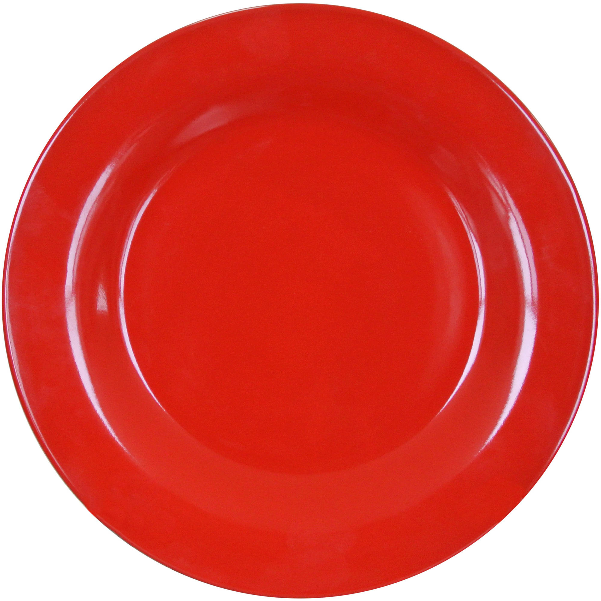 Mainstays Bright Red 4-Pack Stoneware Dinner Plates