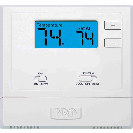 T601-2 Single-Stage 1 Hot/1 Cold Non-Programmable Thermostat