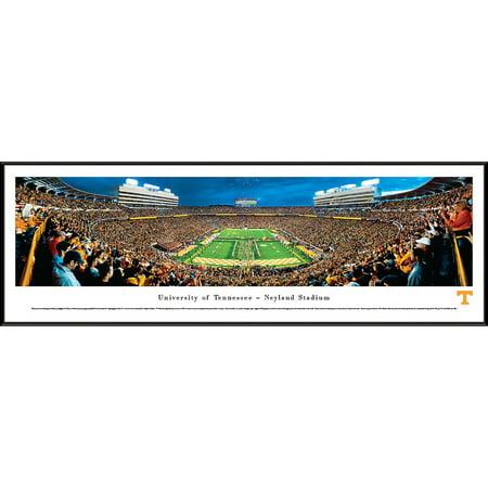 Framed Tennessee Volunteer Neyland Stadium (Tennessee Volunteers Football - Power Tat Neyland Stadium - Blakeway Panoramas NCAA College Print with Standard Frame )