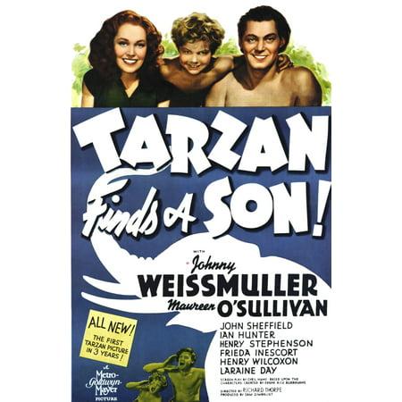 Tarzan Finds A Son Maureen OSullivan John Sheffield Johnny Weissmuller 1939 Movie Poster Masterprint