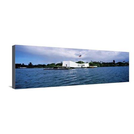 Arizona Memorial Honolulu - Uss Arizona Memorial, Pearl Harbor, Honolulu, Hawaii, USA Stretched Canvas Print Wall Art By Panoramic Images
