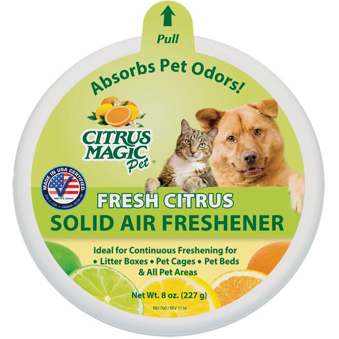 Citrus Magic Pet Odor Absorbing Solid Air Freshener Fresh Citrus, 8-Ounce
