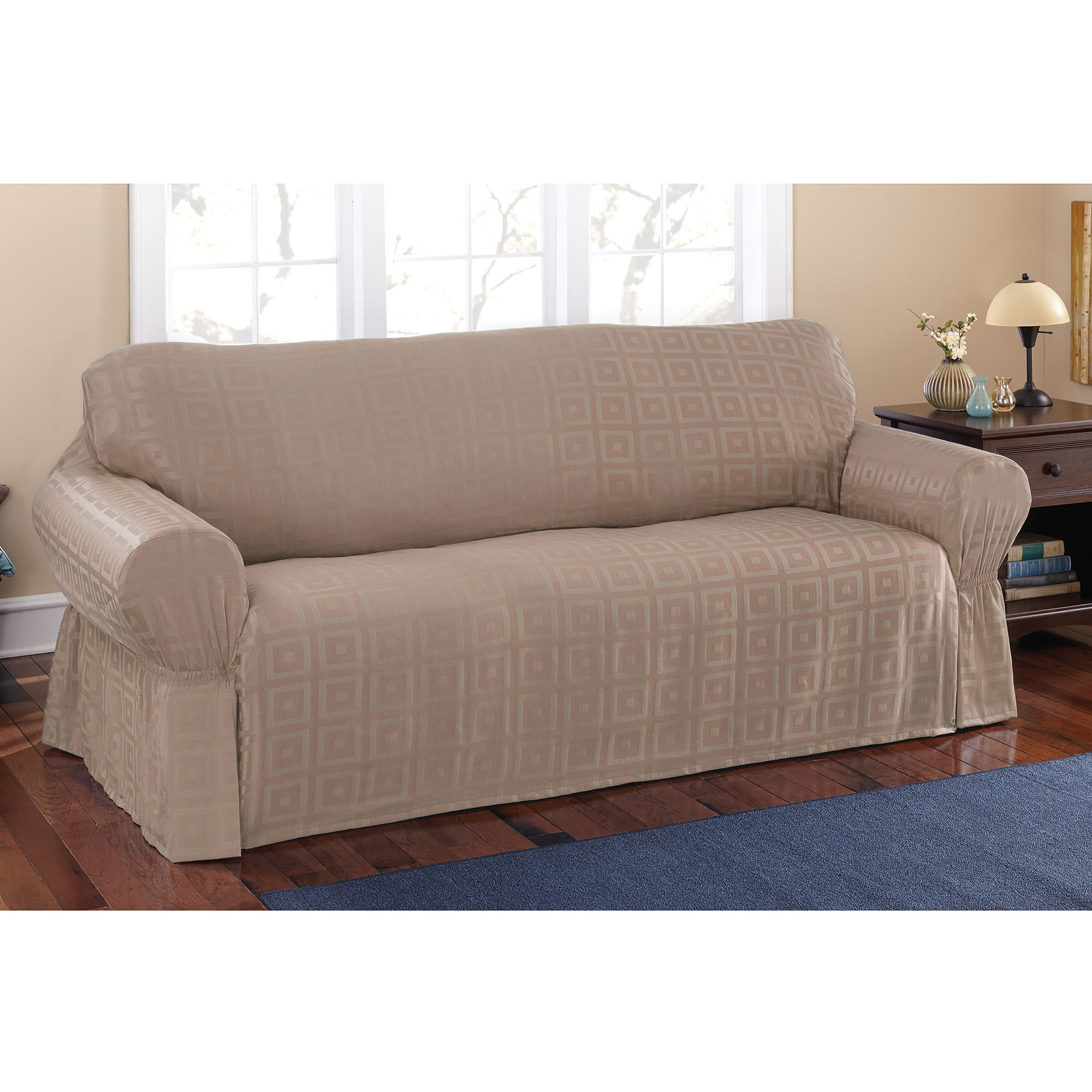 mainstays sherwood slipcover sofa walmart com rh walmart com Walmart Loveseat Slipcovers Sofa Chair Covers Walmart