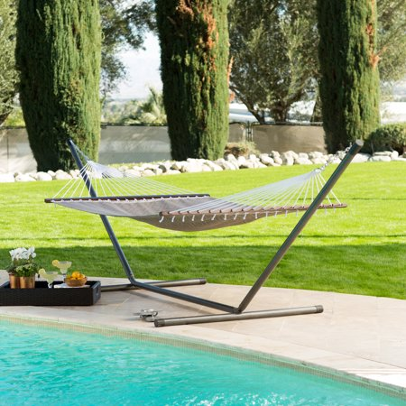 Duracord Quick Dry Hammock - Island Bay 13ft Poolside Quick Dry Taupe Hammock - Gray