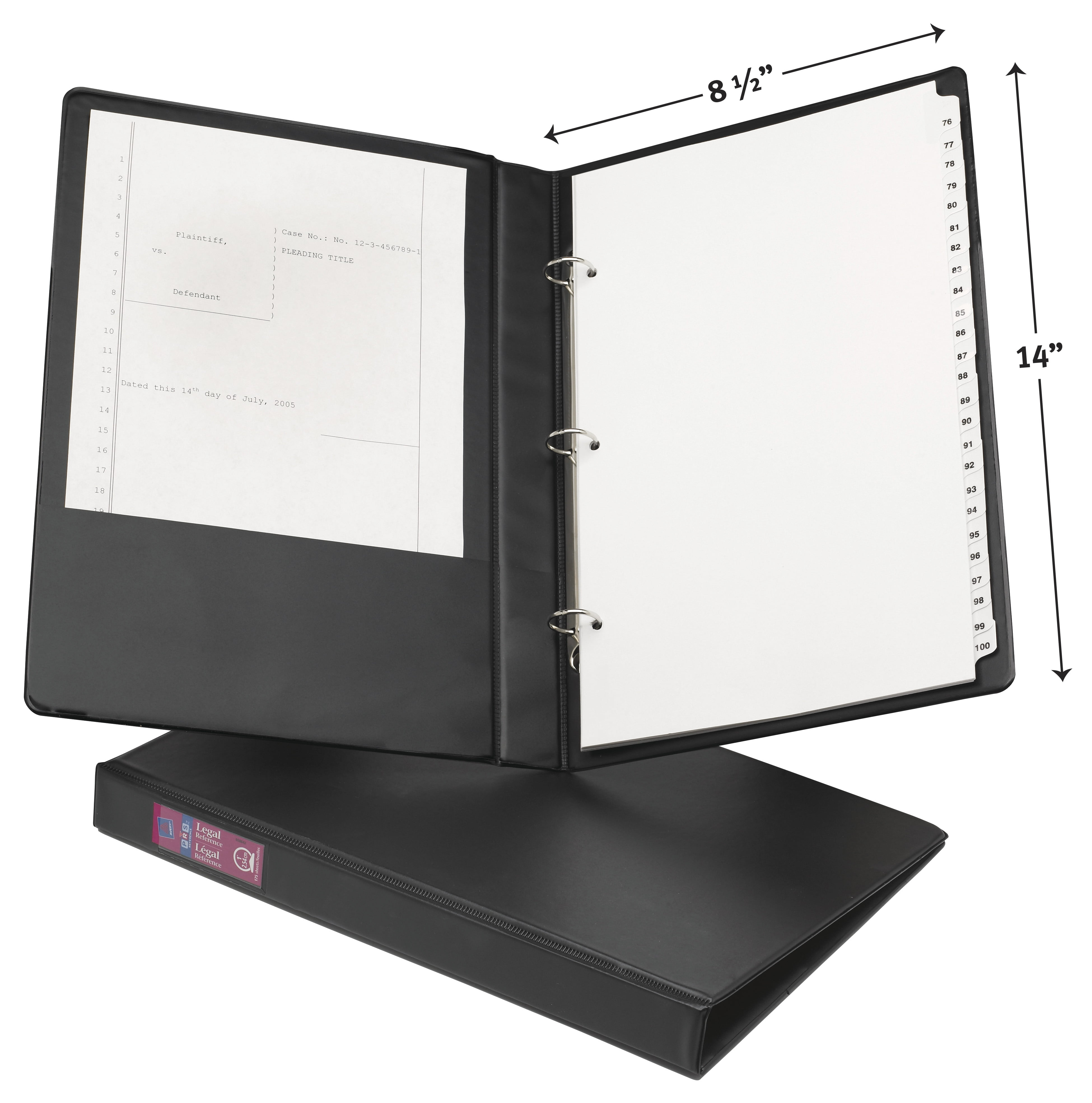 """Avery 1"""" Legal Durable Binder, Round Ring, Black, 175"""