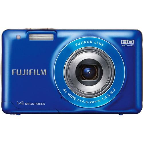 """Fujifilm FinePix JX500 Blue 14MP Digital Camera w/ 5x Optical Zoom, 2.7"""" LCD Display, HD Video"""