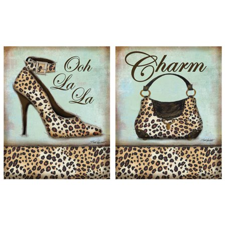 Exotic Leopard Print; Charm Purse and Ooh La La High-Heel; Two 8X10 Poster Prints