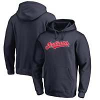 Cleveland Indians Fanatics Branded Team Wordmark Pullover Hoodie - Navy