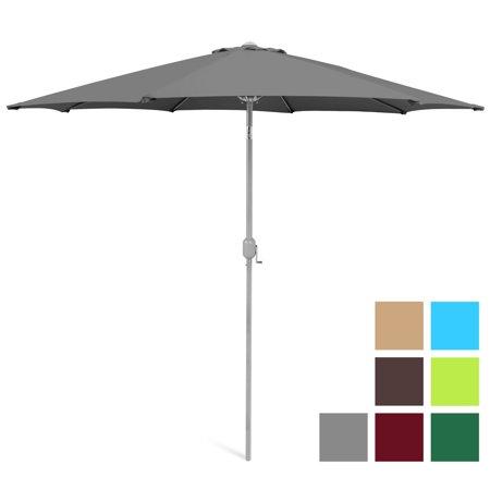 Diameter Fiberglass Market Umbrella (Best Choice Products 9ft Outdoor Water/UV-Resistant Market Patio Umbrella w/ Crank Tilt Adjustment, 180G Polyester, Wind Vent, 1.5in Diameter Aluminum Pole -)