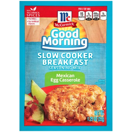 Image of McCormick Good Morning Mexican Egg Casserole Slow Cooker Breakfast Seasoning Mix, 1.25 oz