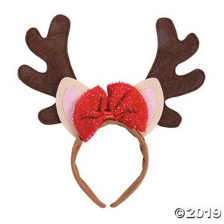 Girlâ??s Reindeer Ears Headband](Reindeer Ears)